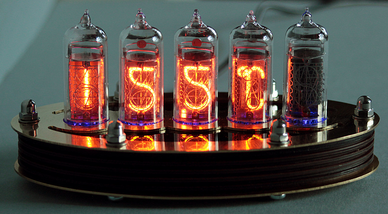 5 Tube Nixie Thermometer V2 Diy Kit With Brass Top Lasermad Shop Clock Further On Schematic