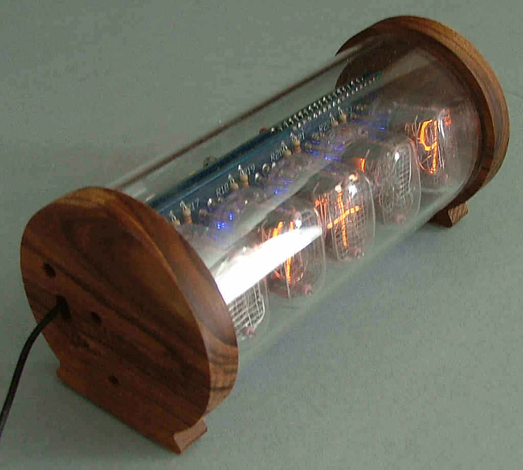 5 Tube Nixie Clock V3 Diy Kit With Perspex And Teak Case Circuit Board Etsy 450